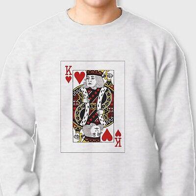 King Of Spades Letter K Deck Of Cards Poker Symbol Funny Crewneck Sweatshirt