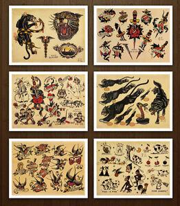c92e6c893 8.5x11 Sailor Jerry Classic Set 1 Vintage Tattoo Flash Design Sheets ...
