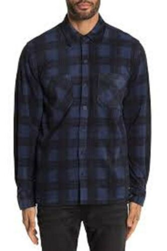 Plaid Long Sleeve Shirt Jacket blue navy xl 406 weatherproof