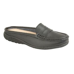 Ladies Deck Moccasin 100/% Leather Slip On Womens Office Work Loafers Shoes Sizes