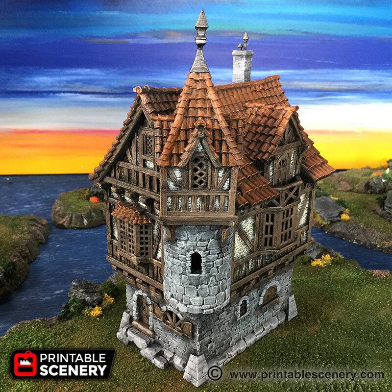 Mansion 28mm Tablettop Världsspel D &D Terrain RPG Dwarven Forge