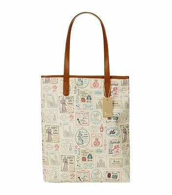 HARRODS LONDON SHABBY CHIC VINTAGE SIGNS DESIGN SMALL TOTE BAG FREE COIN PURSE