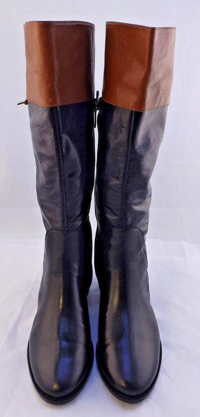 NIB COLE HAAN Black Walden Leather Riding Boot Women's Sz 8.5 M (US) RETAIL 300