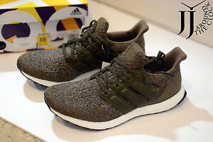 178c2a2d72cc0 New Adidas Ultra Boost Leather Cage Trace Olive Khaki 10 US S82018 ...