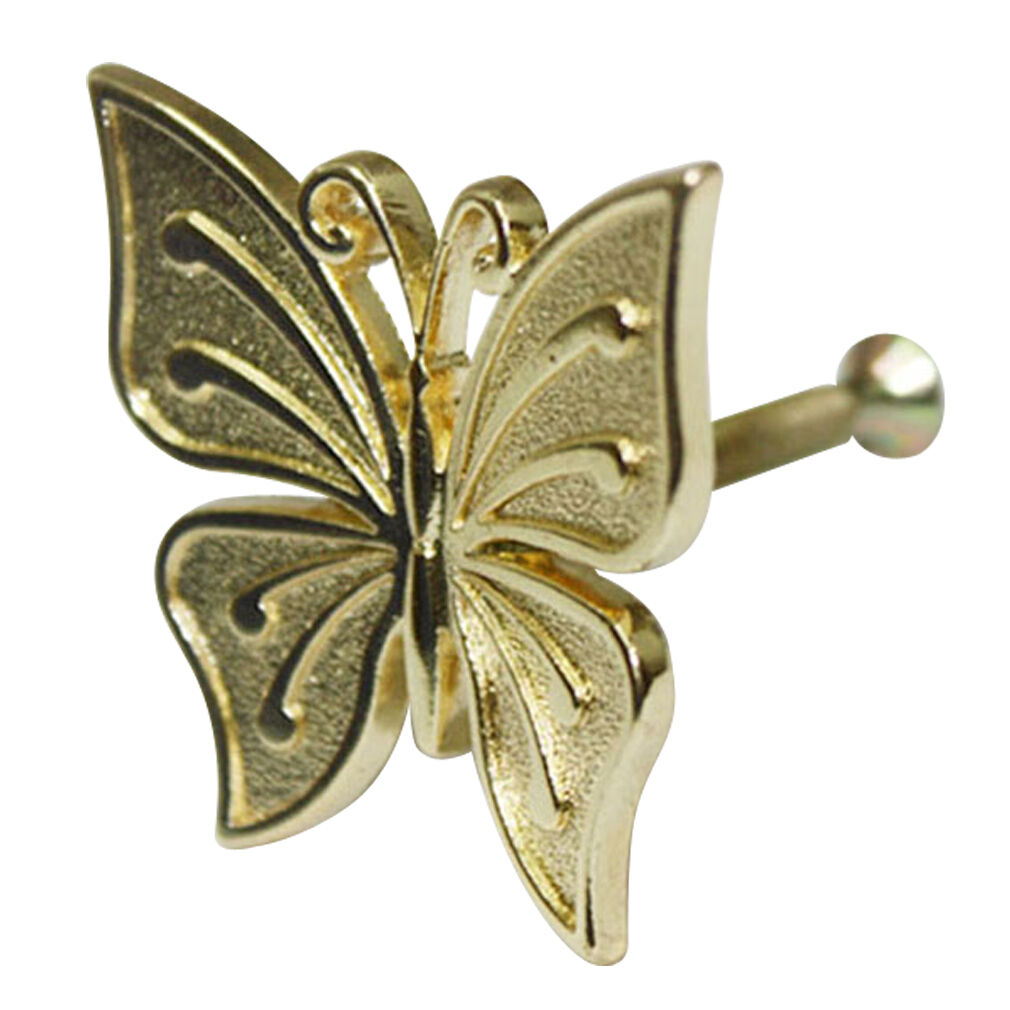 15 pcs Gold Metal Butterfly Decorative Knobs Cabinet Drawer Pull Handles HHY-303