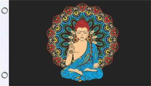X 5 FT Buddha Premium Flag 3 FT