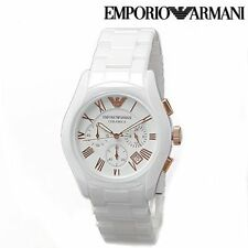 EMPORIO ARMANI AR1416 CERAMIC WHITE MENS CHRONOGRAPH WRIST WATCH