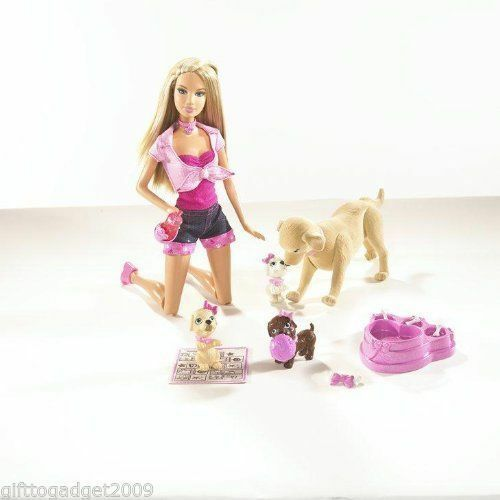 Barbie Doll Taffy Toffee and Puppies Puppies Puppies Year of Make 2007 New Rare 31ebf0