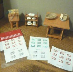 Dollhouse Miniature Butcher/'s Block Table Kit 1:48 Scale