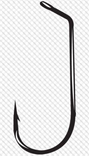 ROUND BEND 25 HOOKS GAMAKATSU #594-60° FLAT EYE JIG HOOKS PICK YOUR SIZE NEW