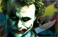 The Joker The Dark Knight put A Smile On Your Face 11 X 17 High Quality Poster