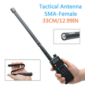 Tactical-Antenna-SMA-Female-Dual-Band-VHF-UHF-Foldable-For-Baofeng-Two-Way-Radio