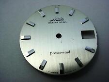 Silver Mido Vintage Ocean Star Powerwind 29.25mm Watch Dial Date Window NOS