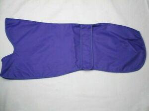 """28"""" 32"""" Violet Imperméable Greyhound Coat Mac Un Doublé Réglable Velcro Bande-afficher Le Titre D'origine"""