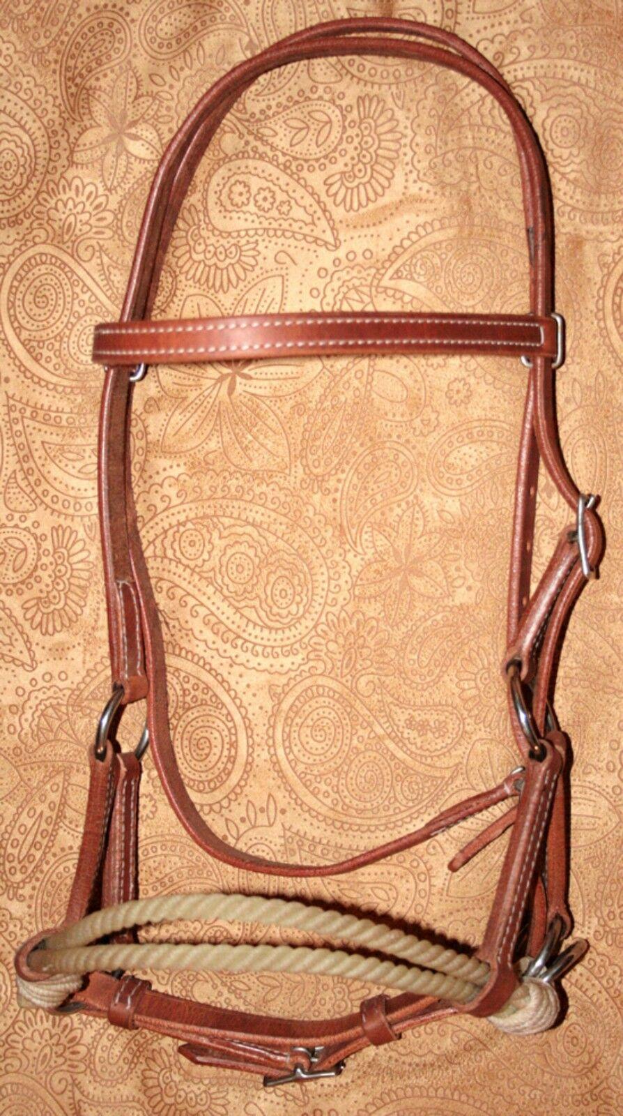Sidepull Headpiece gebißlos Lindel Double Harnes cuir Training Young Horses
