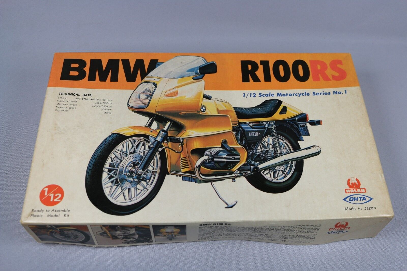 Zf1034 Hales mr. ohta 1 12 model m12021-1000 bmw r100rs motorcycle series no. 1