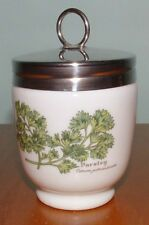 ROYAL WORCESTER HERBS PEPPERMINT PARSLEY DOUBLE EGG CODDLER