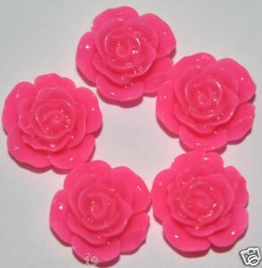 5 Fleurs Demi Perle Charms Embellissement Scrapbooking Carterie Decoration