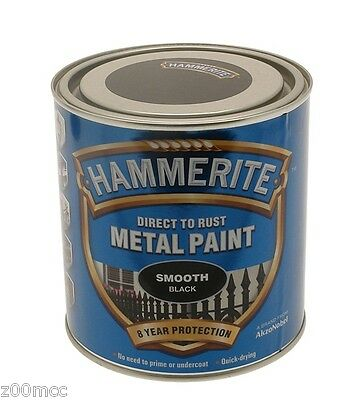 Hammerite Smooth  Metal Paint 750ml Tins ALL COLOURS