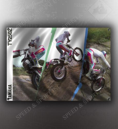VINTAGE YAMAHA TY250  MOTORCYCLE BANNER