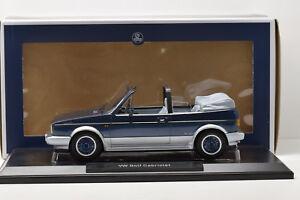 VW-GOLF-CABRIOLET-BEL-AIR-1992-BLUE-METALLIC-NOREV-1-18-NEUVE-EN-BOITE
