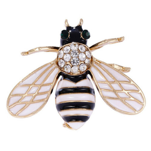Women Delicate Little Bee Insect Crystal Rhinestone Pin Brooch Jewelry Pop#UUFK