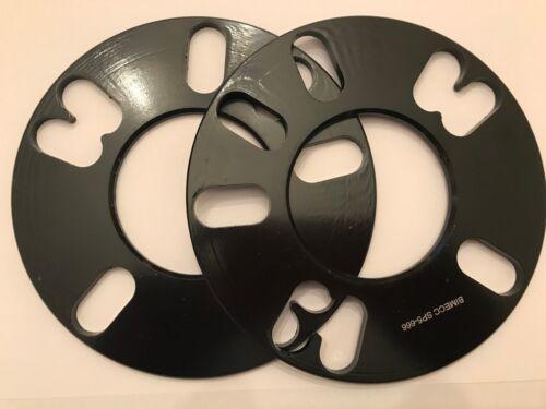 2 X 5 mm Bimecc Negro 66.1 centrado en el Eje Aleación Espaciador De Rueda Para Nissan 4X114 M12N