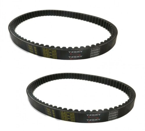 2 TORQUE CONVERTER COGGED BELTS for Carter Brothers Mini Dirt Bikes Go Karts