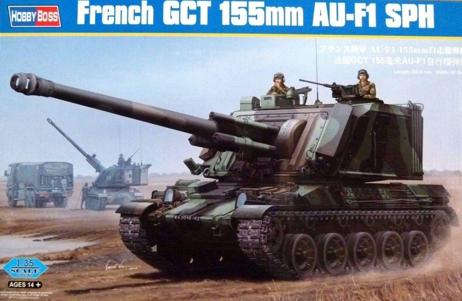 Hobbyboss 1 35 GCT 155mm AU-F1 SPH Vehicle Model Kit