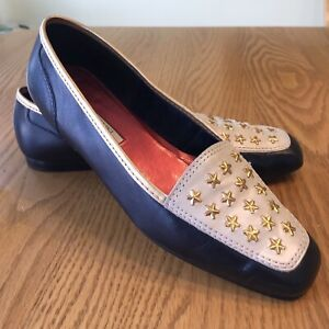 Enzo-Angiolini-Womens-Shoes-Size-7N-Flats-Stars-Loafer-Yacht-Cruise-Nautical
