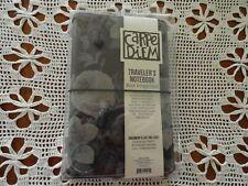 New Carpe Diem Travelers Notebook Planner Black Vintage Floral Journal Withinsert