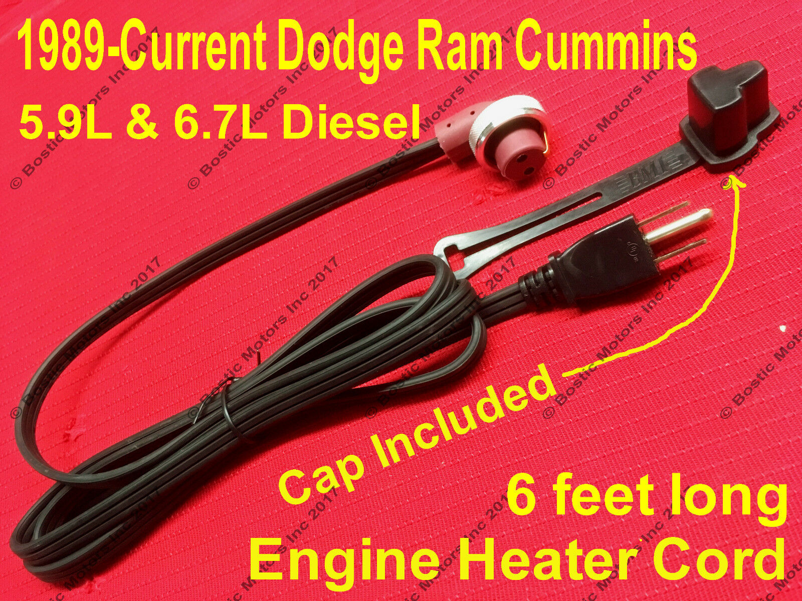 Top Quality Powerstroke Diesel Heavy Cast Steel /& Nickel Chrome Plated Block Heater 1000w 6.0 6.4 6.7 L 1000w F350 F250 Excursion