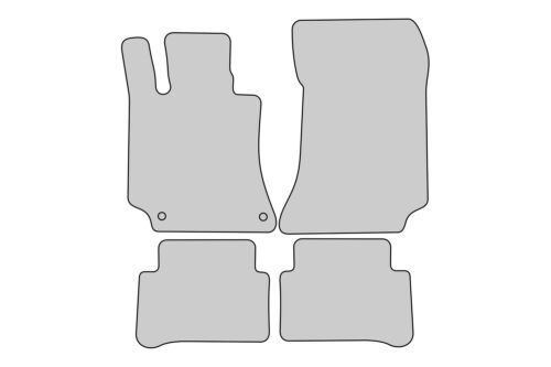 Sport Auto Fußmatten für Mercedes E-Klasse Typ W212 Bj 2009-2016