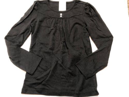 NWT GYMBOREE Solid Black Shirt Top GEM DETAIL 8 *20