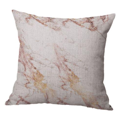 Cotton Linen Cushion Cover Sofa Square Pillow Case 45x45cm