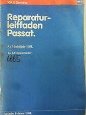 Werkstattbuch Reparaturleitfaden VW Passat 1.9 Liter-Vergasermotor #6665