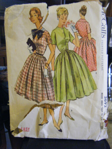 Vintage McCall's 3692 Misses Dress Pattern - Size 14 Bust 32