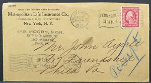 Metropolitan-Life-Insurance-Co-New-York-1922-Station-Flag-USA-Letter-Lot-5039