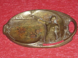 Coll-Jean-DOMARD-SPORTS-OLYMPIC-GAMES-PARIS-1924-Copper-Ashtray-GEO-ANDRE