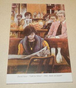 Carte-Postale-Le-SELECT-Cafe-David-AZUZ-1982-Huile-sur-papier