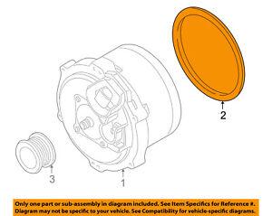 bmw oem 04 06 x5 alternator mount bracket gasket 12317507808 ebay rh ebay com bmw x5 alternator wiring diagram 2003 bmw x5 alternator belt diagram