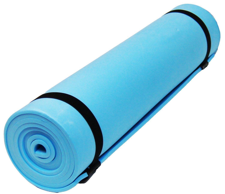 Nouveau Bleu Yoga Camping Camping Camping Plage Tapis de sol couchage 180 x 50cm retrousser mousse tapis pp! ce9d1f