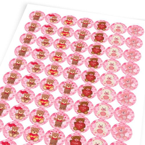 Loving Teddy Bears Sticker Labels Children Teacher Praise Parent School
