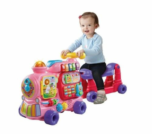 Baby Girls Learning Toy Sit-to-Stand Ultimate Alphabet Train Pink Gift New