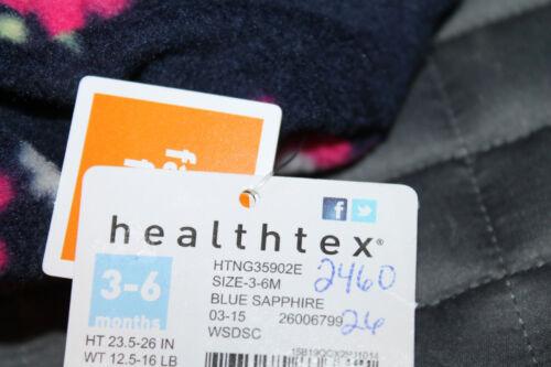 Healthtex Baby Girl Fleece Eared Pram Blue Pink Floral Multiple Sizes new