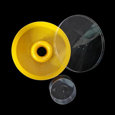 Plastic Bee Water Feeder Round Hive Entrance Drinking Bowl Beekeeping 21*5.1cm