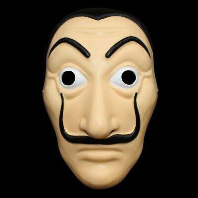 Resin La Casa De Papel Face Mask Salvador Dali Mascara Money Heist Cosplay Props