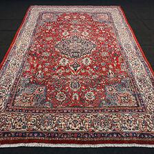 Orient Teppich Rot 332 x 216 cm Beige Blau Alter Perserteppich Old Carpet Rug