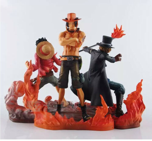 3pcs//set One Piece DXF Brotherhood II Luffy Ace Sabo PVC Figure Loose 14-17