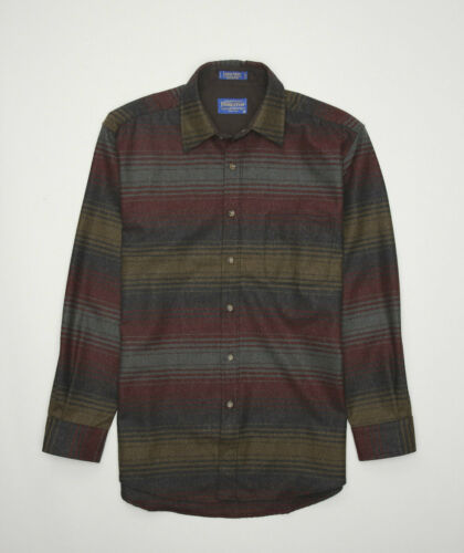 RARE Pendleton Lodge Shirt Wool Flannel Stripes Me